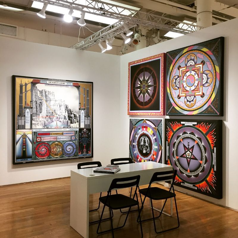 Installation of Paul Laffoley, Outsider Art Fair 2017, New York